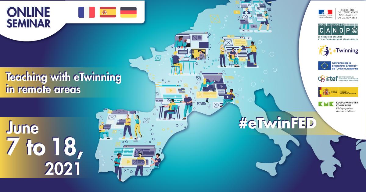 Séminaire en ligne « Enseigner avec eTwinning dans les régions isolées », du 07 au 18 juin 2021