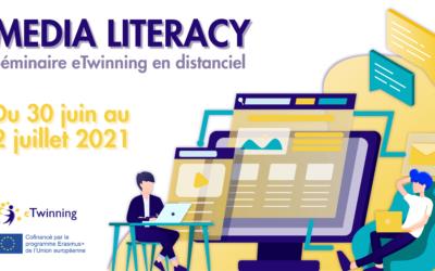 Séminaire eTwinning en ligne «Media Literacy », du 30 juin au 2 juillet 2021