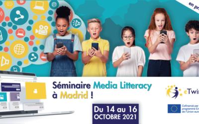 Séminaire eTwinning «Media Litteracy» du 14 au 16 octobre 2021