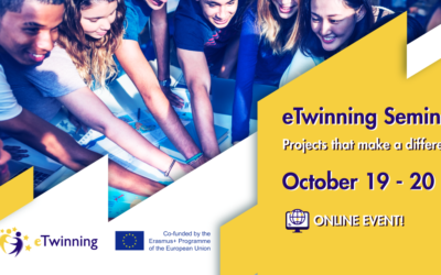 Webinaire eTwinning « Projects that make a difference» du 19 au 20 octobre 2021